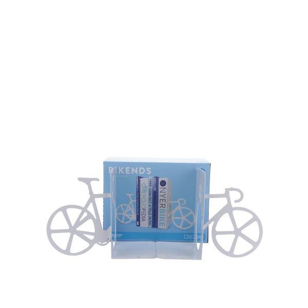Suport pentru cărți alb Mustard în formă de bicicletă