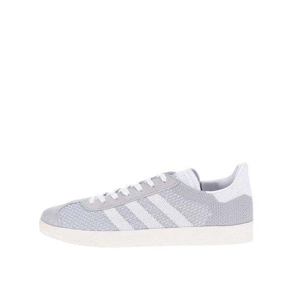Pantofi sport gri adidas Originals Gazelle cu detalii din piele întoarsă de la adidas Originals in categoria pantofi sport și teniși