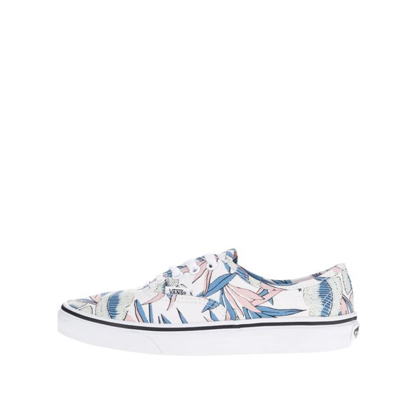 Teniși crem cu imprimeu tropical VANS Authentic de la VANS in categoria pantofi sport și teniși