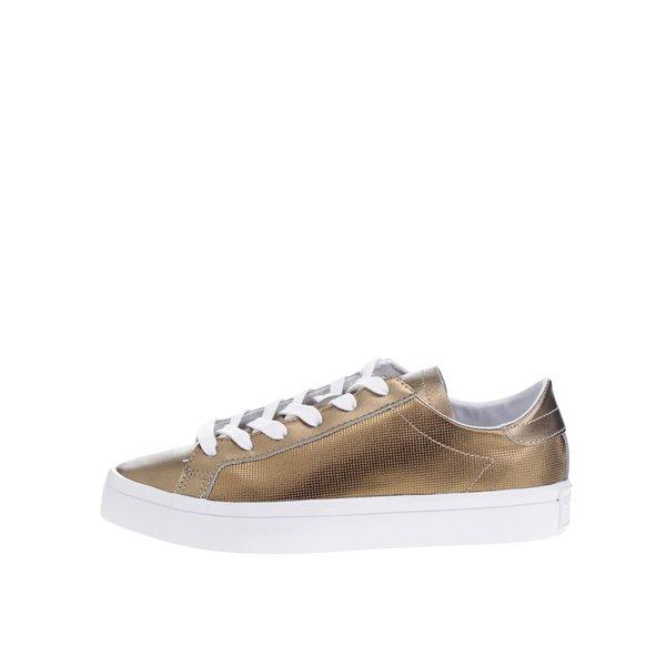 Pantofi sport bronz din piele pentru femei adidas Originals Court Vantage de la adidas Originals in categoria pantofi sport și teniși