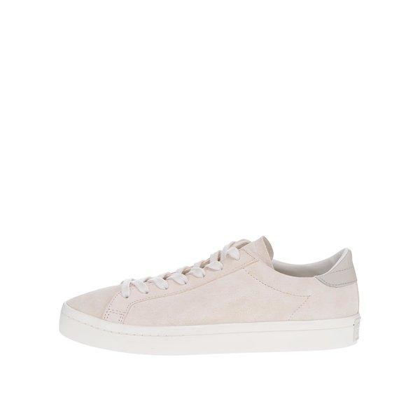 Pantofi sport crem din piele pentru bărbați adidas Originals Court Vantage de la adidas Originals in categoria pantofi sport și teniși