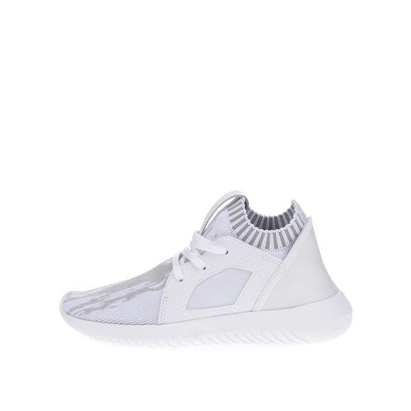 Pantofi sport albi adidas Originals Tubular cu model