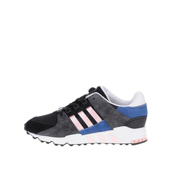 Pantofi sport gri & negru Originals Equipment Support cu detalii din piele întoarsă