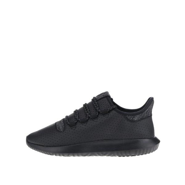 Pantofi sport negri adidas Originals Tubular Shadow cu detalii din piele