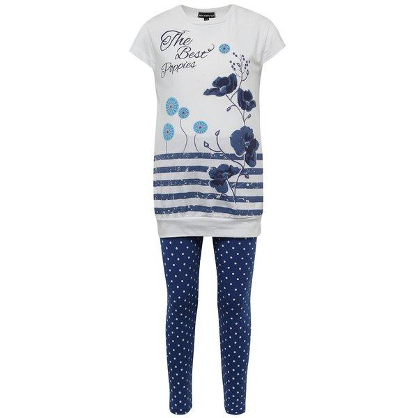 Pijama alb & albastru Mix´n Match pentru fete