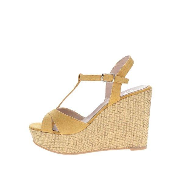 Sandale galbene cu platformă OJJU de la OJJU in categoria sandale