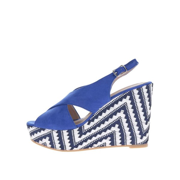 Sandale albastre cu platforma OJJU
