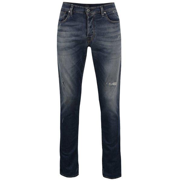 Pantaloni albastru închis Jack & Jones Glenn Icon cu aspect prespălat de la Jack & Jones in categoria Blugi, pantaloni, pantaloni scurți