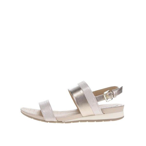 Sandale bej Geox Formosa din piele de la Geox in categoria sandale