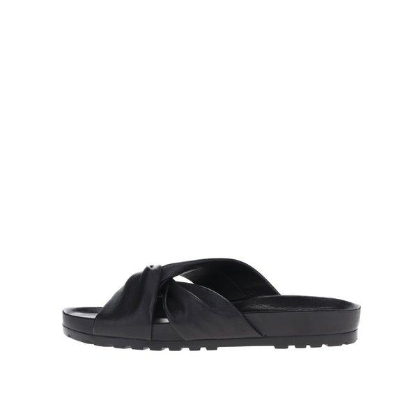 Papuci flip-flop negri Vagabond Erie din piele de la Vagabond in categoria șlapin