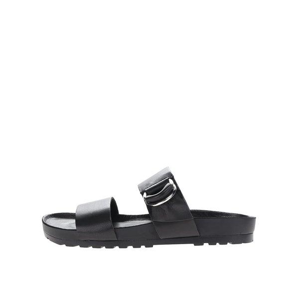 Papuci flip-flop negri Vagabond Erie din piele