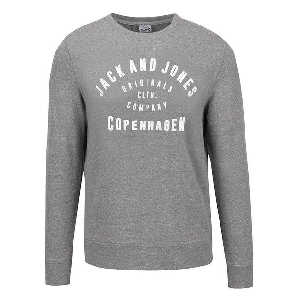 Bluză sport gri melanj Jack & Jones Base cu text
