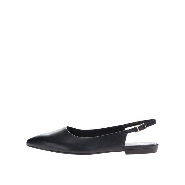 Pantofi slide negri Vagabond Katlin din piele