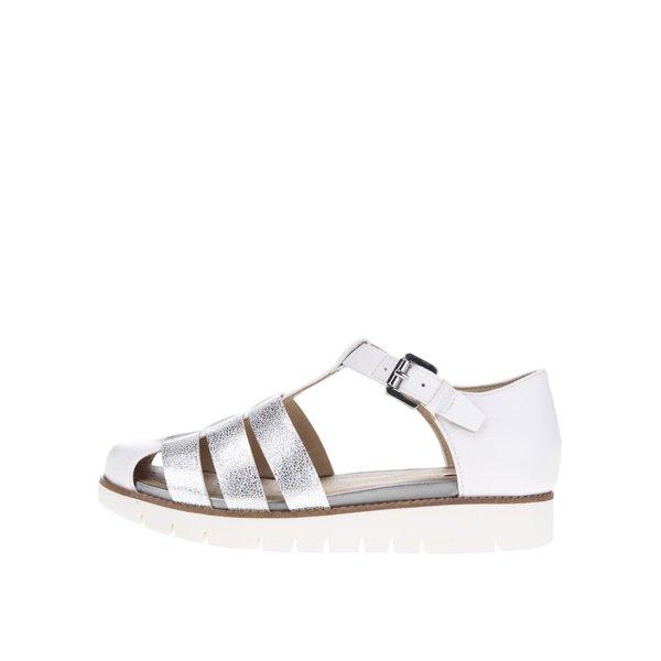 Sandale albe cu barete argintii Geox Darline de la Geox in categoria sandale