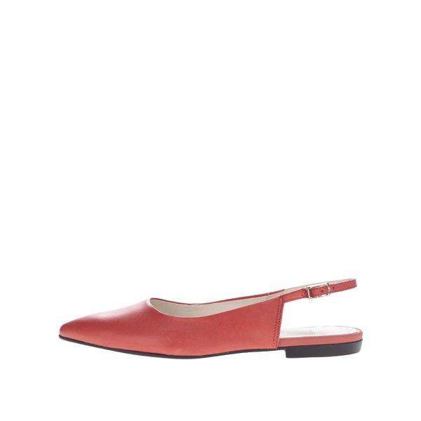 Pantofi slide roșii Vagabond Katlin din piele de la Vagabond in categoria balerini