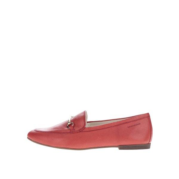 Mocasini roșii Vagabond Ayden din piele cu detaliu auriu de la Vagabond in categoria pantofi și mocasini