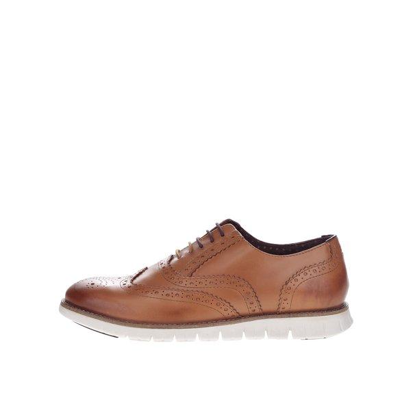 Pantofi maro deschis London Brogues Gatz Oxford din piele de la London Brogues in categoria pantofi și mocasini