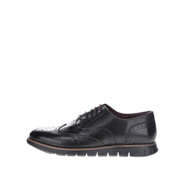 Pantofi Brogue negri London Brogues Gatz Oxford din piele de la London Brogues in categoria pantofi și mocasini