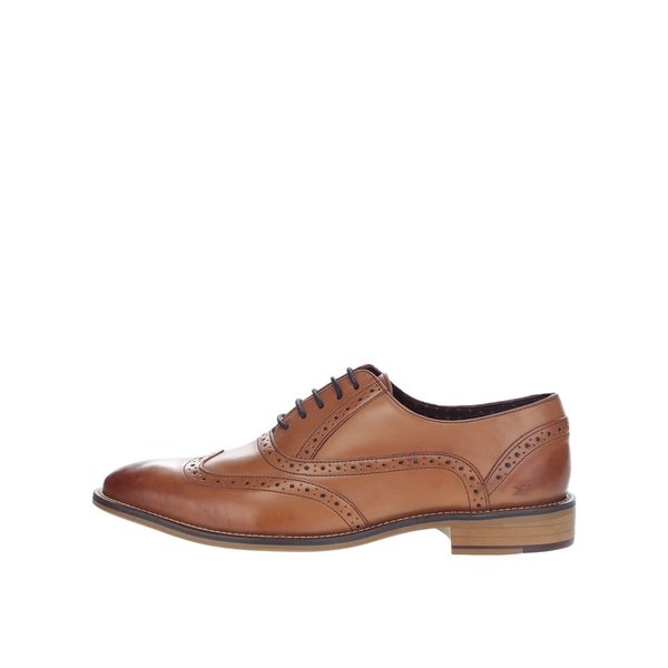 Pantofi Brogue maro deschis London Brogues George Oxford din piele de la London Brogues in categoria pantofi și mocasini