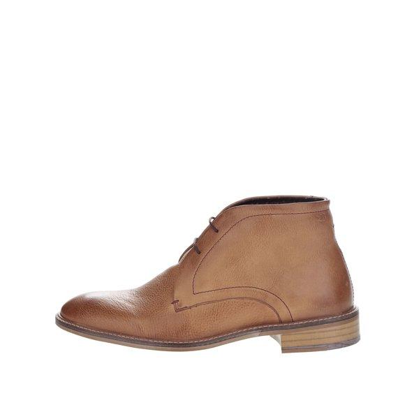 Ghete maro deschis London Brogues Wister Chukka din piele de la London Brogues in categoria pantofi și mocasini
