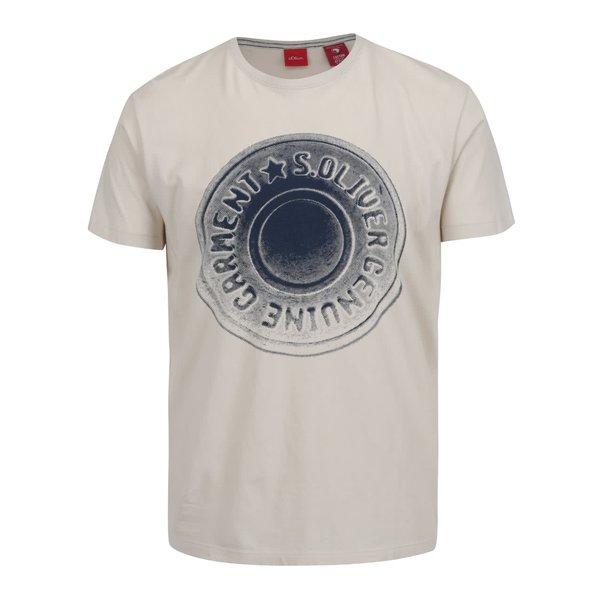 Tricou crem s.Oliver din bumbac cu print de la s.Oliver in categoria tricouri