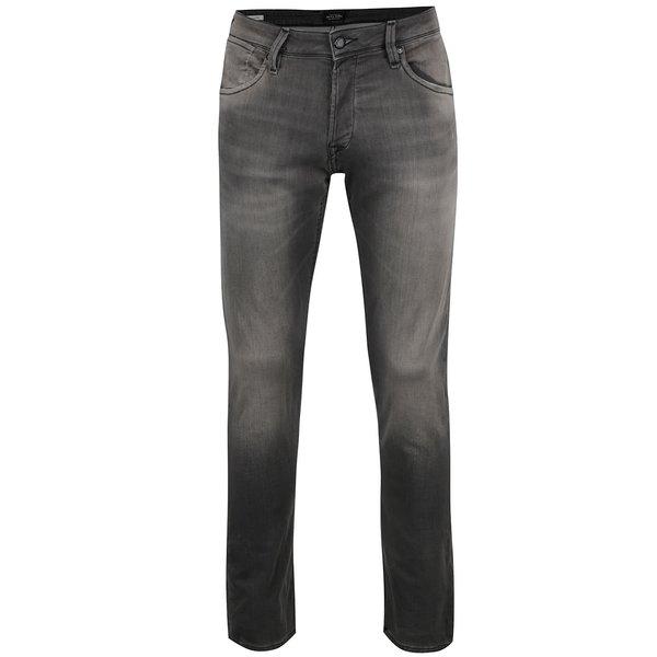 Blugi gri Jack & Jones Glenn cu aspect prespălat de la Jack & Jones in categoria Blugi, pantaloni, pantaloni scurți