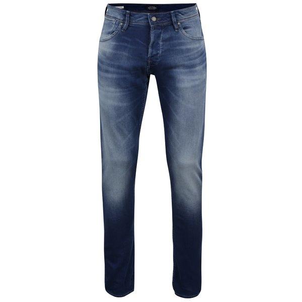 Blugi albastru închis Jack & Jones Glenn cu aspect prespălat de la Jack & Jones in categoria Blugi, pantaloni, pantaloni scurți