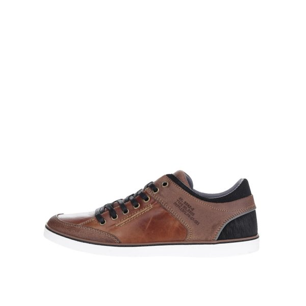 Pantofi sport maro cu negru Bullboxer din piele de la Bullboxer in categoria pantofi sport și teniși