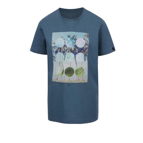 Tricou albastru Quiksilver cu print de la Quiksilver in categoria Tricouri, camasi