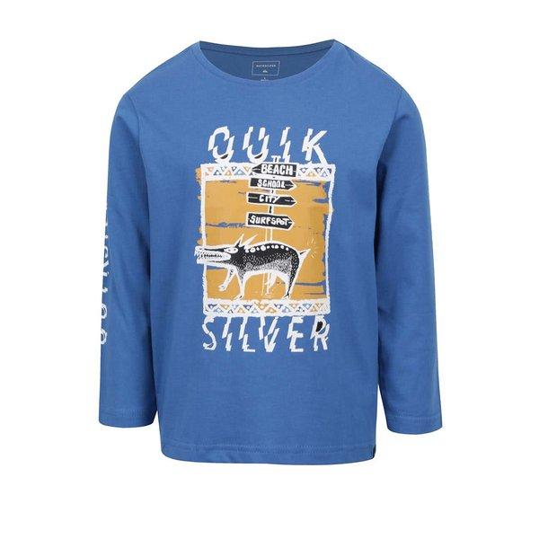 Bluză albastră Quiksilver cu print de la Quiksilver in categoria Tricouri, camasi