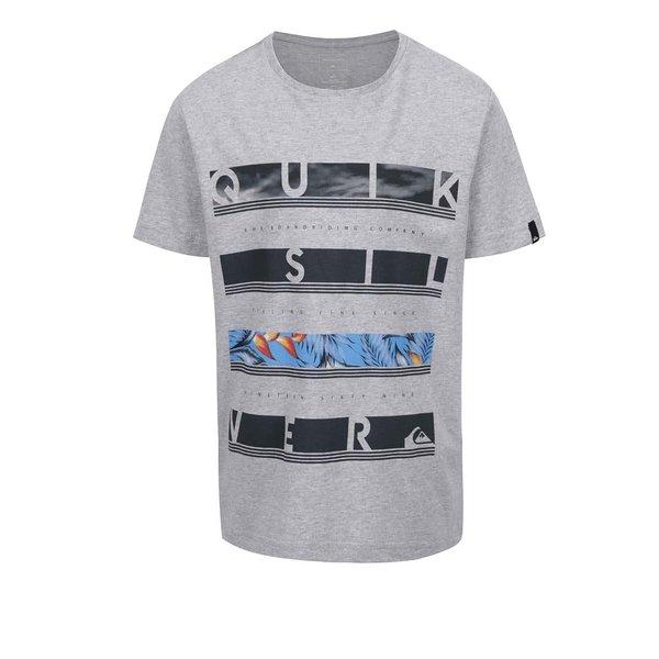Tricou gri Quiksilver cu print de la Quiksilver in categoria Tricouri, camasi