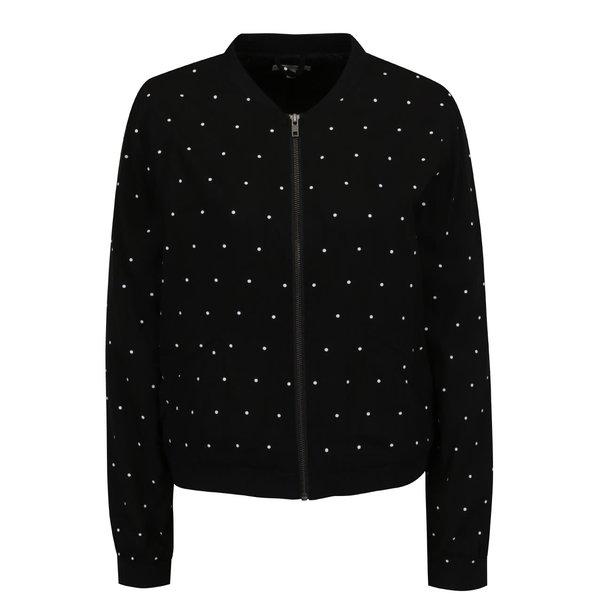 Jachetă bomber neagră QS by s.Oliver cu model cu buline