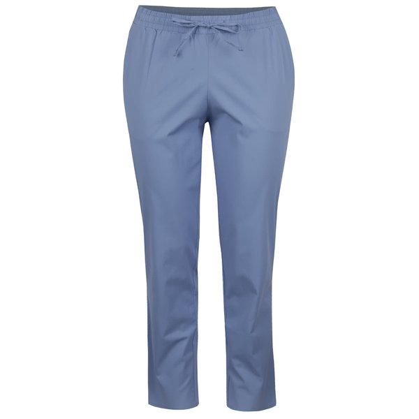 Pantaloni albastru deschis Ulla Popken cu talie elastică