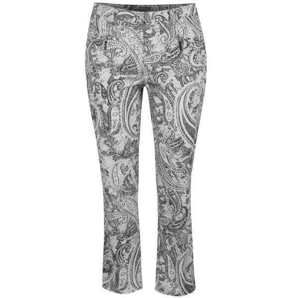 Pantaloni crem & negru Ulla Popken cu model