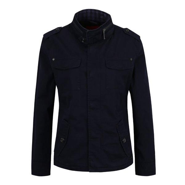Jachetă albastru închis s.Oliver cu guler înalt