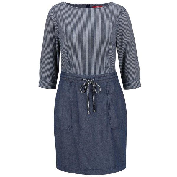 Rochie albastru închis s.Oliver din bumbac cu model în dungi de la s.Oliver in categoria rochii casual