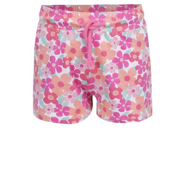 Pantaloni scurți portocaliu & roz 5.10.15. cu model floral