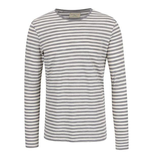 Bluză gri închis & crem Selected Homme Fredd cu model în dungi de la Selected Homme in categoria bluze