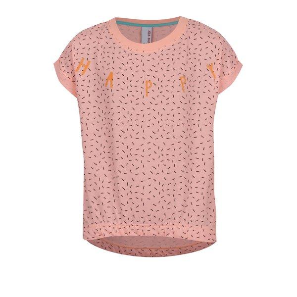 Tricou portocaliu 5.10.15. cu model geometric