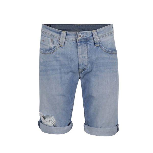 Pantaloni scurți albastru deschis Pepe Jeans Cash din denim de la Pepe Jeans in categoria Blugi, pantaloni, pantaloni scurți