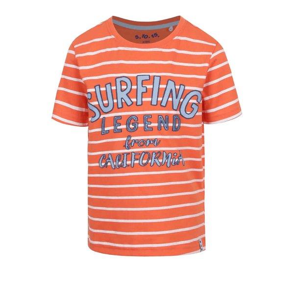 Tricou portocaliu 5.10.15. cu model în dungi
