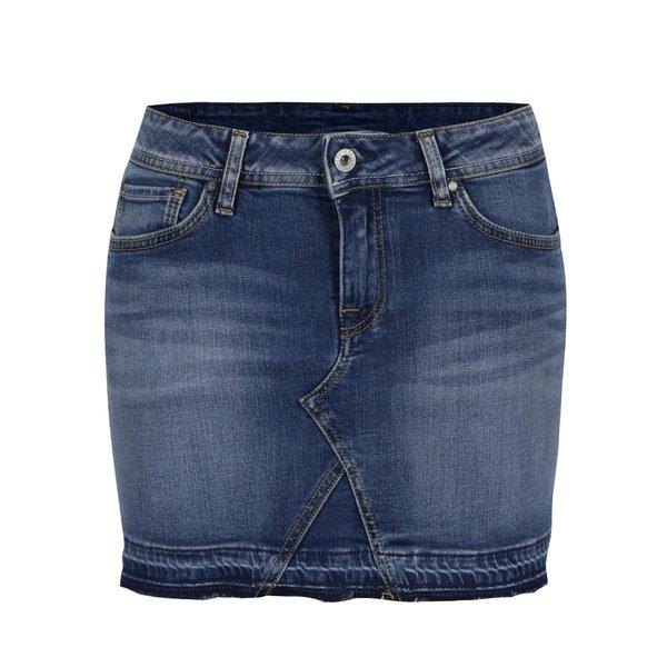 Fustă albastră Pepe Jeans Olivia din denim