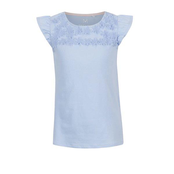 Tricou albastru deschis 5.10.15. cu aplicații florale