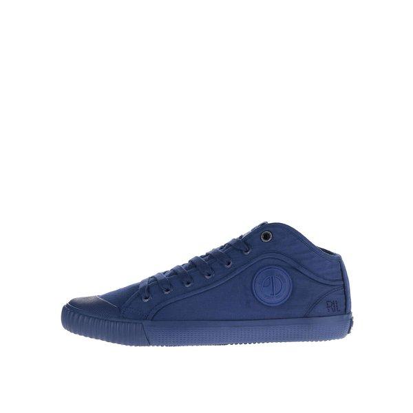 Pantofi sport albaștri Pepe Jeans Industry Routes cu print