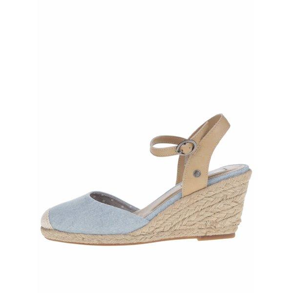 Sandale albastre Pepe Jeans Kinney cu platformă de la Pepe Jeans in categoria sandale