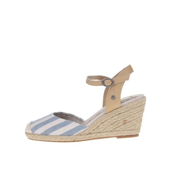 Sandale albastru&crem Pepe Jeans Kinney cu platformă de la Pepe Jeans in categoria sandale