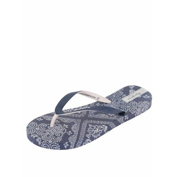 Șlapi albaștri Pepe Jeans Rake Scarf cu imprimeu floral de la Pepe Jeans in categoria șlapin
