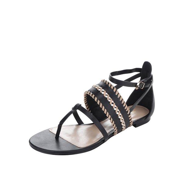 Sandale negre ALDO Nadya cu împletituri de la ALDO in categoria sandale