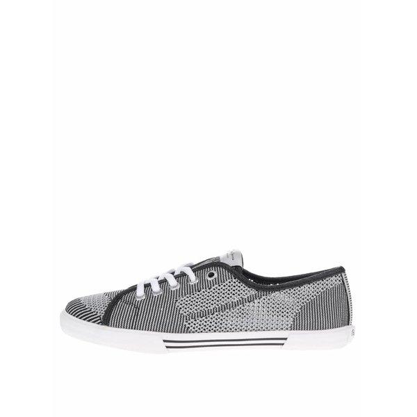 Pantofi sport gri Pepe Jeans Aberlady Fishnet cu model