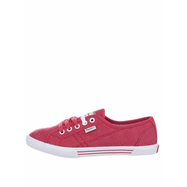 Pantofi sport roșii Pepe Jeans Aberlady Anglaise de la Pepe Jeans in categoria pantofi sport și teniși